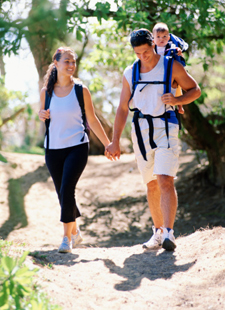 To maintain your health with regular physical activity, walk about 30 minutes a day at a talking pace.